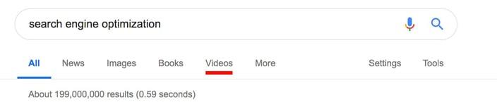 search enginje optimization screenshot