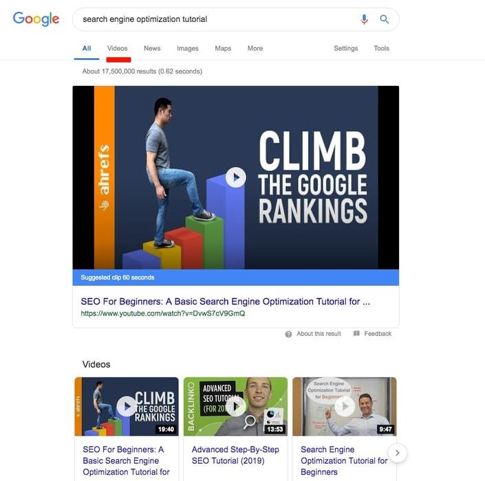 searche ngine optimization tutorial