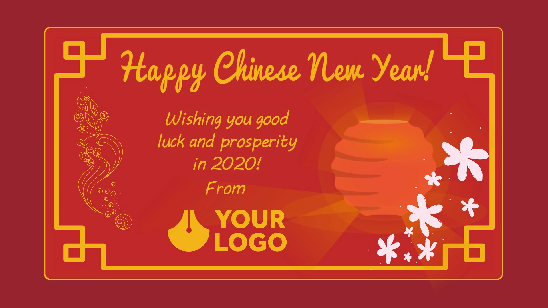 Customizable Chinese New Year video templates