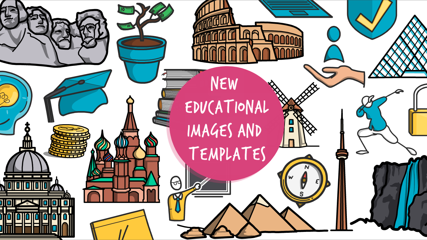 Power up your educational videos with new images and templates