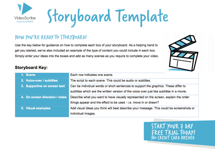 How to storyboard an explainer video [Free Template]